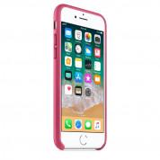 Apple iPhone Leather Case - оригинален кожен кейс (естествена кожа) за iPhone 8, iPhone 7 (розов) 4