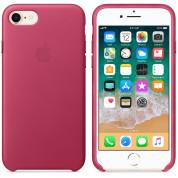 Apple iPhone Leather Case - оригинален кожен кейс (естествена кожа) за iPhone 8, iPhone 7 (розов) 1