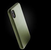 Mujjo Leather Case - кожен (естествена кожа) кейс за iPhone XS, iPhone X (маслинен) 2