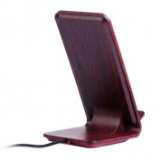 YoLike A8 10W Qi Wireless Charging Wood Stand with LED Light 4