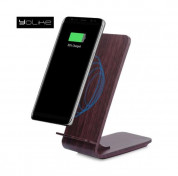 YoLike A8 10W Qi Wireless Charging Wood Stand with LED Light 1