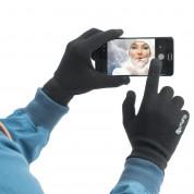 4smarts Winter Gloves Touch Unisex Size S/M (black) 1