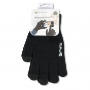 4smarts Winter Gloves Touch Unisex Size S/M - зимни ръкавици за тъч екрани S/M размер (черен) 3