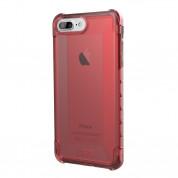Urban Armor Gear Plyo Case - удароустойчив хибриден кейс за iPhone 8 Plus, iPhone 7 Plus (червен-прозрачен)