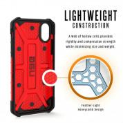 Urban Armor Gear Plasma - удароустойчив хибриден кейс за iPhone XS, iPhone X (червен-прозрачен) 5