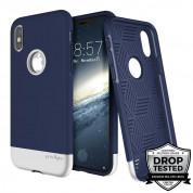 Prodigee Fit Pro Case - хибриден слайдер кейс за iPhone XS, iPhone X (тъмносин-сребрист)