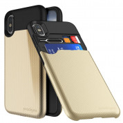 Prodigee Undercover Case for iPhone XS, iPhone X (gold)