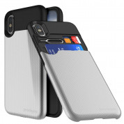 Prodigee Undercover Case for iPhone XS, iPhone X (silver)
