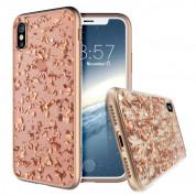 Prodigee Treasure Case - хибриден кейс с висока степен на защита за iPhone XS, iPhone X (розов)