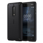Nokia Rugged Impact Case CC-502 - удароустойчив хибриден кейс за Nokia 5 (черен)