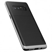 Verus High Pro Shield Case - висок клас хибриден удароустойчив кейс за Samsung Galaxy Note 8 (черен-сребрист)