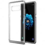 Verus Crystal Bumper Case - хибриден удароустойчив кейс за Samsung Galaxy Note 8 (сребрист-прозрачен)