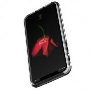 Verus Crystal Bumper Case - хибриден удароустойчив кейс за iPhone XS, iPhone X (черен гланц-прозрачен) 4