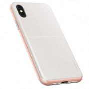 Verus High Pro Shield Case - висок клас хибриден удароустойчив кейс за iPhone XS, iPhone X (бял-розов) 1
