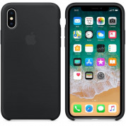Apple Silicone Case for iPhone XS, iPhone X (black) 1