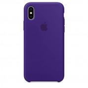 Apple Silicone Case - оригинален силиконов кейс за iPhone X (виолетов)
