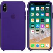 Apple Silicone Case - оригинален силиконов кейс за iPhone X (виолетов) 2