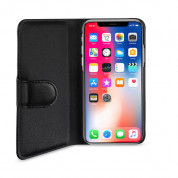 Artwizz SeeJacket Leather - кожен кейс тип портфейл за iPhone XS, iPhone X (черен) 4