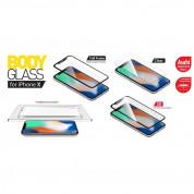 Torrii BodyGlass 3D Full Cover Glass - калено стъклено защитно покритие 0.33мм. за целия дисплей на iPhone 11 Pro, iPhone XS, iPhone X (прозрачен-черен) 5
