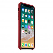 Apple iPhone Leather Case for iPhone X (red) 3