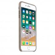 Apple iPhone Leather Case - оригинален кожен кейс (естествена кожа) за iPhone 8 Plus, iPhone 7 Plus (светлокафяв) 4
