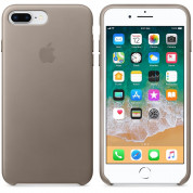 Apple iPhone Leather Case for iPhone 8 Plus, iPhone 7 Plus (taupe) 2