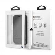 BMW Signature Leather Booktype Case - кожен калъф (естествена кожа), тип портфейл за iPhone XS, iPhone X (черен) 5