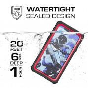 Ghostek Nautical IP68 Waterproof Case for Apple iPhone XS, iPhone X (black-white) 4