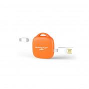 Xoopar 500 mAh Hug Booster - външна батерия 500mAh ключодържател с Lightning и MicroUSB кабели (оранжев) 1