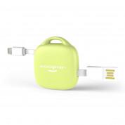 Xoopar 500 mAh Hug Booster - външна батерия 500mAh ключодържател с Lightning и MicroUSB кабели (лайм) 2
