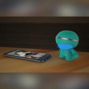 Xoopar Boy Mini Bluetooth Speaker - дизайнерски безжичен Bluetooth спийкър за мобилни устройства (син) 6