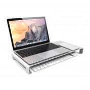 Satechi Aluminium Monitor Stand - настолна алуминиева поставка за монитори, MacBook и лаптопи (сребриста) 1