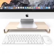 Satechi Aluminium Monitor Stand - настолна алуминиева поставка за монитори, MacBook и лаптопи (златиста) 1