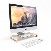 Satechi Aluminium Monitor Stand - настолна алуминиева поставка за монитори, MacBook и лаптопи (златиста) 2