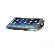 Griffin Back Bay Polka Folio - кожен калъф с поставка за iPad Air, iPad 5 (2017) (черен-бял със зелен велур) 3