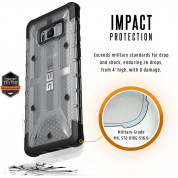 Urban Armor Gear Plasma - удароустойчив хибриден кейс за Samsung Galaxy S8 Plus (прозрачен) (bulk) 6
