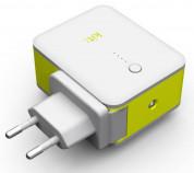 Kit 2in1 International Travel Charger with 3000mAh Powerbank - захранване за ел. мрежа с адаптори за цял свят и външна батерия (бял) 5