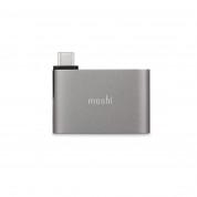 Moshi USB-C to Dual USB-A Adapter - адаптер за свързване от USB-C към 2 x USB-A (тъмносив) 1