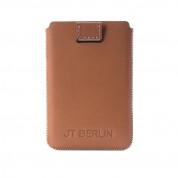 JT Berlin Credit Card Etui Premium - кожен (естествена кожа) калъф за кредитни карти и визитки (кафяв) 3