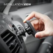 Elago M Car Magnetic Mount Plus - магнитна поставка за радиатора на кола за смартфони (черна) 6