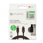 4smarts USB-C to Lightning Cable iPD for Fast Charging iPhone 8/8 Plus/X and iPad (black) 2