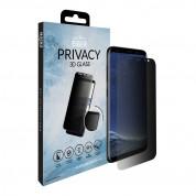 Eiger Privacy 3D Tempered Glass - калено стъклено защитно покритие с извити ръбове и определен ъгъл на виждане за целия дисплея на Samsung Galaxy S8 (черен-прозрачен) 3