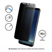 Eiger Privacy 3D Tempered Glass - калено стъклено защитно покритие с извити ръбове и определен ъгъл на виждане за целия дисплея на Samsung Galaxy S8 Plus (черен-прозрачен) 1