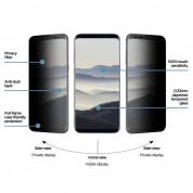 Eiger Privacy 3D Tempered Glass - калено стъклено защитно покритие с извити ръбове и определен ъгъл на виждане за целия дисплея на Samsung Galaxy S8 Plus (черен-прозрачен) 2