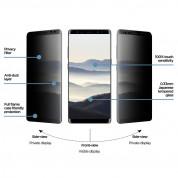 Eiger Privacy 3D Tempered Glass - калено стъклено защитно покритие с извити ръбове и определен ъгъл на виждане за целия дисплея на Samsung Galaxy Note 8 2