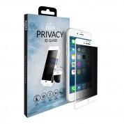 Eiger Privacy 3D Tempered Glass - калено стъклено защитно покритие с извити ръбове и определен ъгъл на виждане за целия дисплея на iPhone 8 Plus, iPhone 7 Plus, iPhone 6S Plus, iPhone 6 Plus (бял-прозрачен) 3