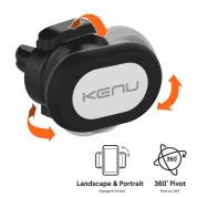 Kenu Airframe Magnetic Mount - магнитна поставка за радиатора на кола за iPhone, Samsung и смартфони (черен) 2