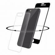 Eiger 3D 360 Screen Protector Back and Front Glass for iPhone iPhone 8, iPhone 7 (Clear/Black)