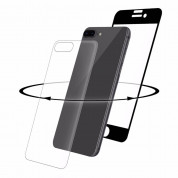 Eiger 3D 360 Screen Protector Back and Front Glass for iPhone 8 Plus, iPhone 7 Plus (Clear/Black)