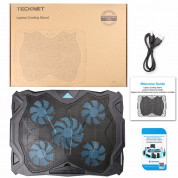 TeckNet N11 Laptop Cooling Pad with Silent Fans 7